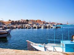 58_Chania-A-view-of-the-Cretan-sea-and-Greek-port-of-Chania-on-the-island-of-Crete.