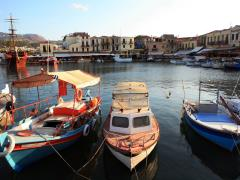 62_Rethymnon-Early-evening-at-the-Venetian-harbour,-Rethymnon,-Crete.
